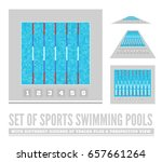 set of sports swimming pools... | Shutterstock .eps vector #657661264