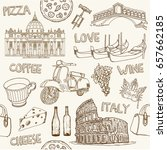 italy. vintage seamless... | Shutterstock .eps vector #657662185