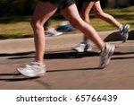 runners   runners speed by ... | Shutterstock . vector #65766439