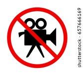 no video movie camera no...   Shutterstock .eps vector #657666169