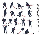 hockey two colored set 03 | Shutterstock .eps vector #657667309
