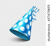 party shiny hat with ribbon.... | Shutterstock .eps vector #657670855