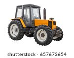 yellow tractor isolated on... | Shutterstock . vector #657673654