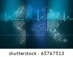 3d world map rendering out of... | Shutterstock . vector #65767513
