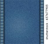 blue denim texture. edges of...   Shutterstock . vector #657677905