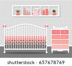vector illustration with baby... | Shutterstock .eps vector #657678769