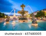 lisbon  portugal cityscape at...   Shutterstock . vector #657680005