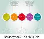 timeline infographics design... | Shutterstock .eps vector #657681145