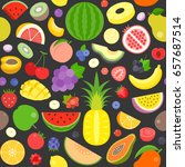 seamless pattern of various... | Shutterstock .eps vector #657687514