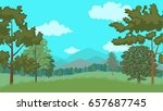 forest. vector illustration  a... | Shutterstock .eps vector #657687745