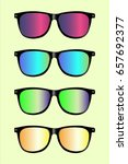 cool colorful sunglasses filter ... | Shutterstock .eps vector #657692377