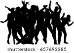 dancing people silhouettes. | Shutterstock .eps vector #657693385
