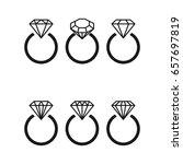 diamond engagement ring icons...   Shutterstock .eps vector #657697819