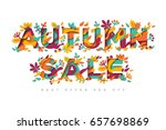 autumn sale typography design... | Shutterstock .eps vector #657698869