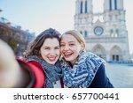 two young girls walking...   Shutterstock . vector #657700441