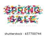 spring sale typography design... | Shutterstock .eps vector #657700744