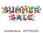 summer sale typography design... | Shutterstock .eps vector #657701101