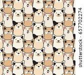 Stock vector vector animal seamless dog pattern pug cartoon print funny decorative puppy set dog with bone 657702274