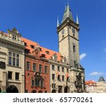 Old Town Hall In Prague  Czech...
