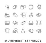 simple set of towels and... | Shutterstock .eps vector #657705271
