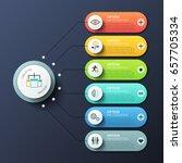 modern infographic design... | Shutterstock .eps vector #657705334