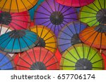 colored paper traditional... | Shutterstock . vector #657706174