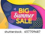 big summer sale. a modern...   Shutterstock .eps vector #657709687