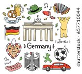 germany color hand drawn... | Shutterstock .eps vector #657710044