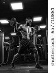 attractive tall muscular... | Shutterstock . vector #657710881