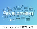 back end and front end software ... | Shutterstock .eps vector #657711421