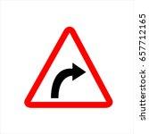 norwegian road warning sign  ...   Shutterstock .eps vector #657712165