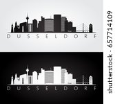dusseldorf skyline and