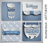 set of happy fathers day cards... | Shutterstock .eps vector #657718195