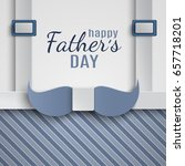 happy fathers day greeting card ... | Shutterstock .eps vector #657718201
