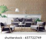 modern scandinavian  interior.  ... | Shutterstock . vector #657722749
