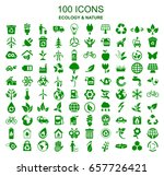 set of 100 ecology icons  ... | Shutterstock .eps vector #657726421