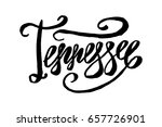 usa state tennessee hand... | Shutterstock .eps vector #657726901