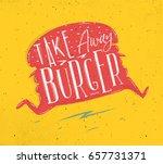 poster in retro style lettering ...   Shutterstock .eps vector #657731371