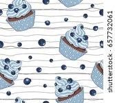 hand drawn seamless pattern... | Shutterstock .eps vector #657732061