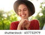 close up of gentle woman... | Shutterstock . vector #657732979