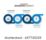 infographic templates in paper... | Shutterstock .eps vector #657735235