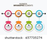 infographic templates in paper... | Shutterstock .eps vector #657735274