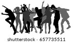 party dancer people  girls and... | Shutterstock .eps vector #657735511