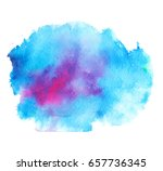 colorful abstract watercolor... | Shutterstock .eps vector #657736345