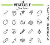 vegetable line icon set  food... | Shutterstock .eps vector #657739477