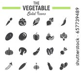 vegetable solid icon set  food... | Shutterstock .eps vector #657739489