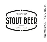 stout beer vintage sign | Shutterstock .eps vector #657740251