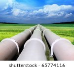 gas pipe line that laid through ... | Shutterstock . vector #65774116