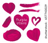hand drawn stains set. vector... | Shutterstock .eps vector #657743029