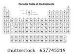 periodic table of the elements... | Shutterstock .eps vector #657745219